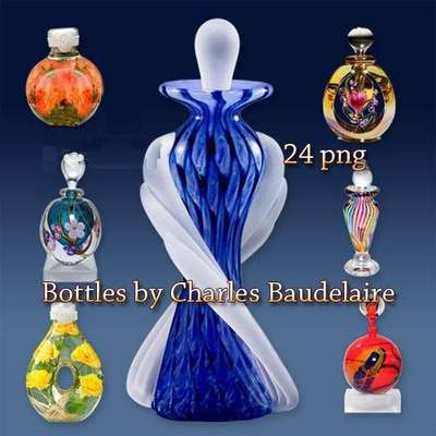 Clipart PNG for design - Bottles by Charles Baudelaire
