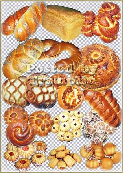 Clipart on a transparent background - Flour Confectionery and Bakery products