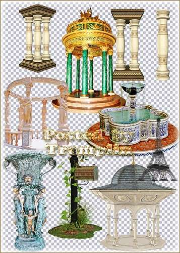 Elements of Architecture - Columns, fountains, statues, pavilions, towers