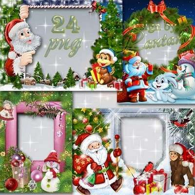 Free Childrens Christmas png frames - 24 PNG - Free download