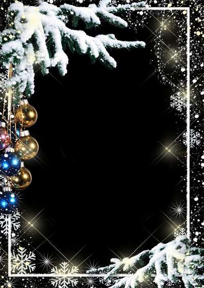 Free PSD frame for Photoshop - Merry Christmas