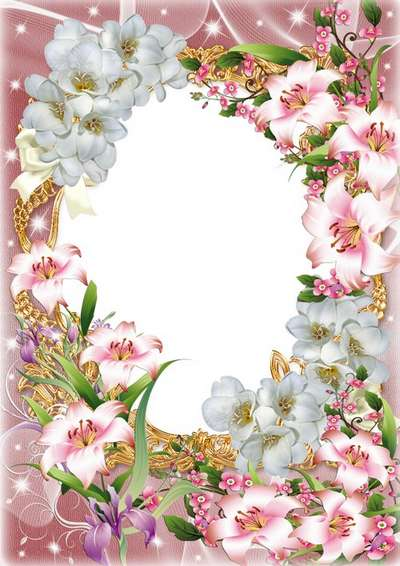 Flower frame for congratulations - Happy Birthday