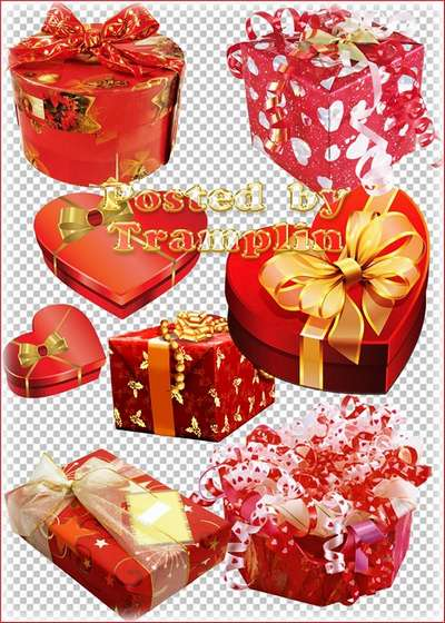 Clipart - Valentines Day Gifts to with hearts, glitter, ribbons