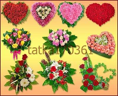 Floral hearts png download - free 13 flower hearts png images