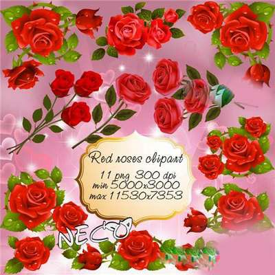 Clipart red roses PNG online download