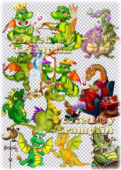 ClipArt  - 100 dragons