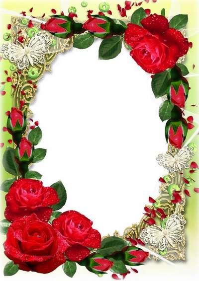 Spring floral frame - March 8