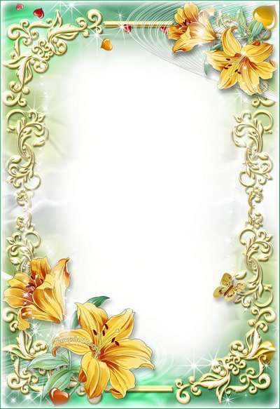 Flower frame with lilies – Smile lives