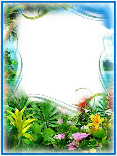 Frame for photoshop - Tropical island