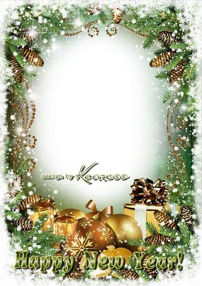 Free winter greeting psd frame - Merry Christmas