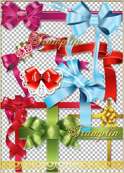 Varicoloured bows png - What Charming