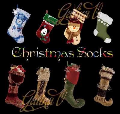 Christmas Socks PNG