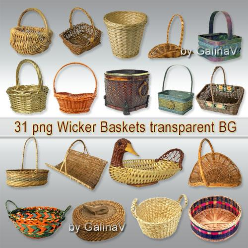 Wicker Baskets PNG free download