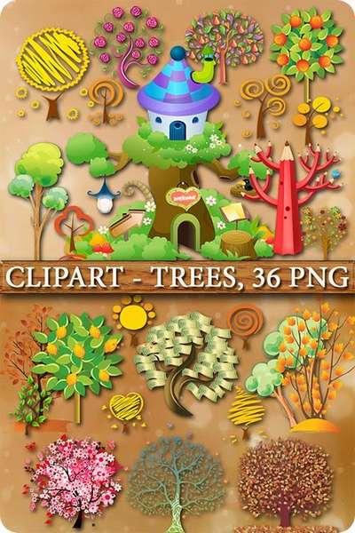 Сlipart - Trees
