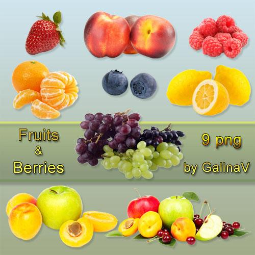 Fresh Tasty Fruits and Berries PNG