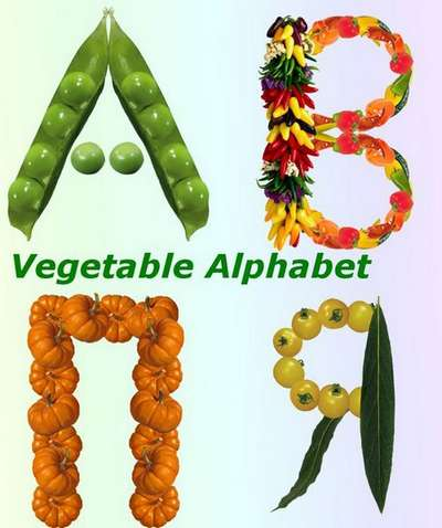 The Russian vegetable alphabet - psd images, clipart psd