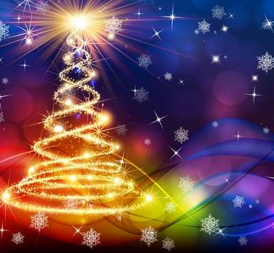 Free Layered PSD backgroundMagical Christmas holiday 34 - Free Download