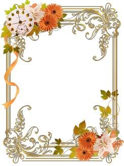 Cutouts for frames - Whirling in a waltz autumn gold