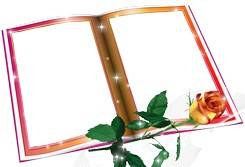 Frame cutouts in the form of open books and writings to the school graduation
