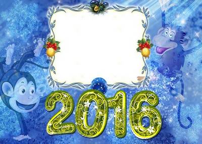 Free new year PSD photo frame for Photoshop - Free download