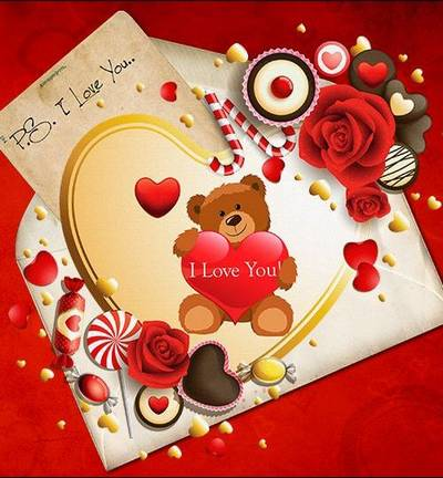 Valentine's Day clipart png - Bear with heart set png images - 70 PNG