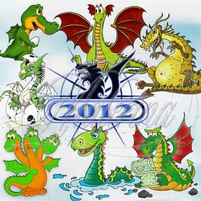 A symbol of 2012 - Dragons