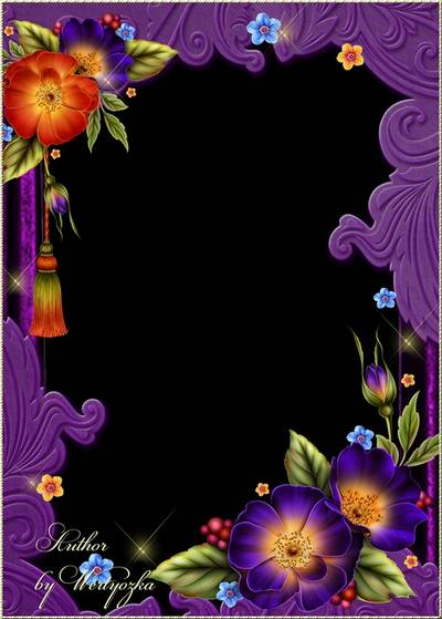 Flowers rose - frame for photoshop