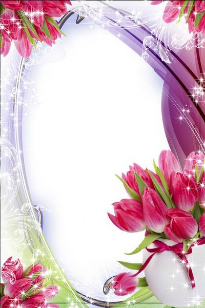 Flower photo frame - Wonderful tulips