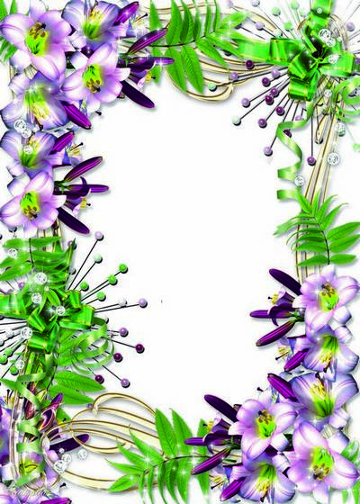 Two Flower frames for a photo – Lilies Fine flowers