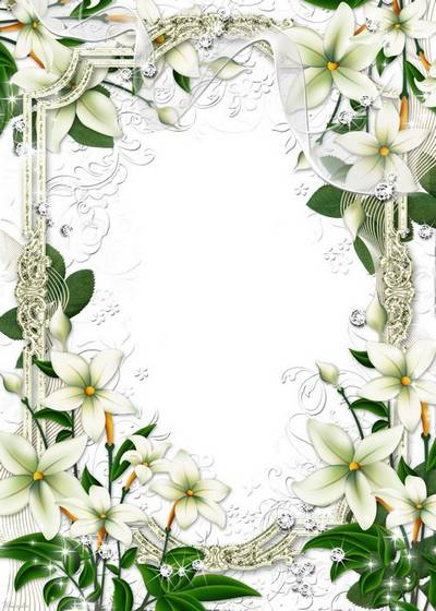flower frame for the photo in colors and a kiss and tenderness