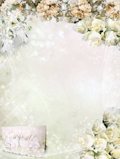 Photo Frame - Wedding white roses