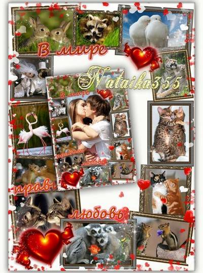 Love photo frame png + psd
