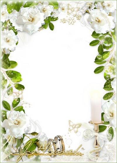 Wedding frame for a photo – Happiness to you, Newlyweds
