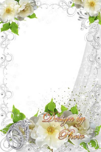 Wedding frame - Wish you happiness and good