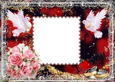 Wedding photoframes - Hearts In love
