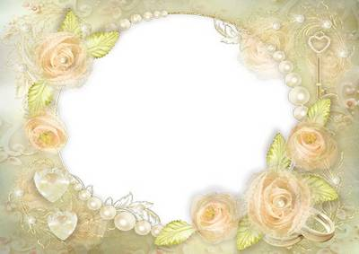 Frame for wedding and romantic photos - My gentle happiness
