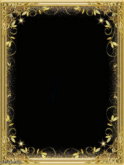 Frame for Photoshop - Refulgency of gold
