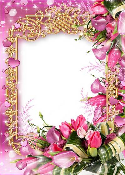 Women's frame - with pink hearts