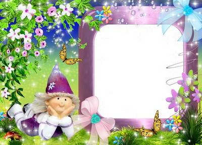 Children frame for Photoshop - My little gnome