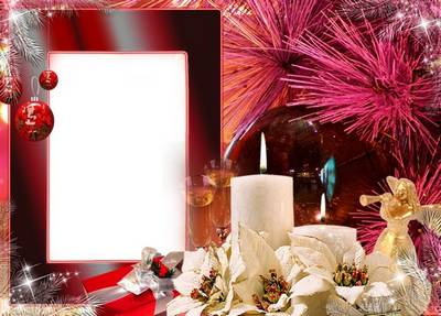 Photo Frame download - Romantic Evening (free frame psd + free frame png)