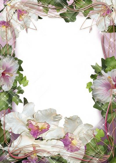 Flower frame for the photo - Inscrutability