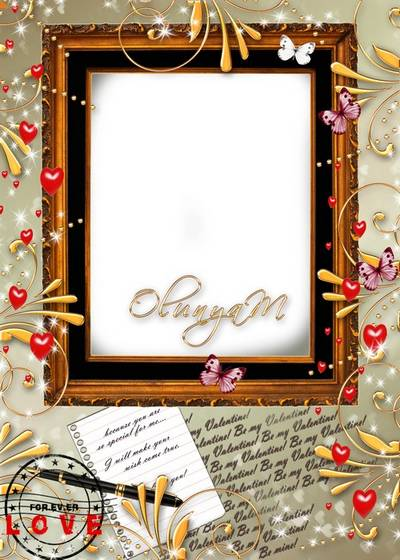 Romantic frame for photo - My golden