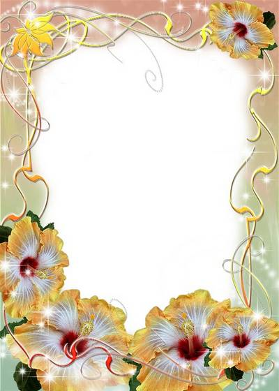 Women's Frame - In flowers and luster