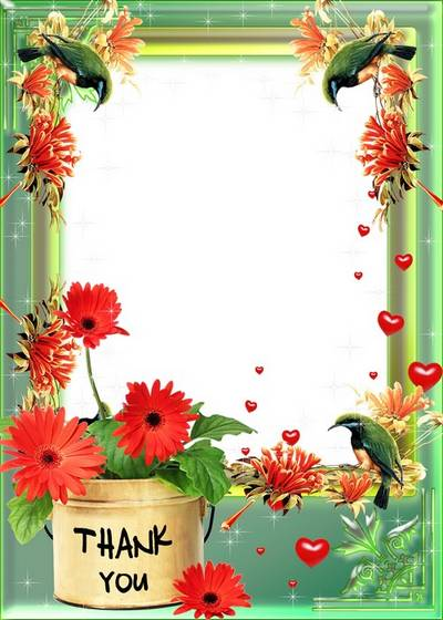 Romantic frame for photo - Thank you