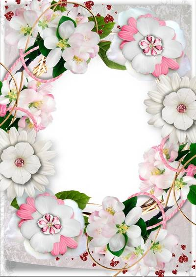 Flower frame for Photoshop - Spring is coming