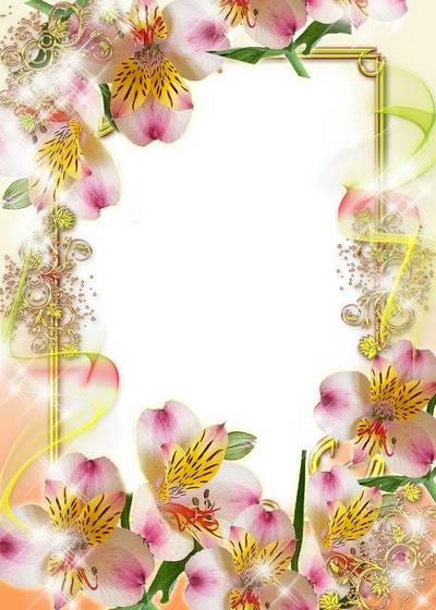 Women's frame for the photo - In flowers and gold