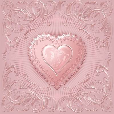 Free Multilayer PSD backgrounds - Pink love heart for Valentine's day - 2 PSD