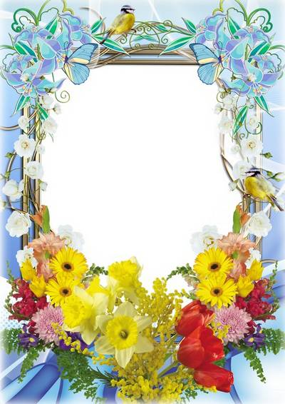 Flower frame for photo - Tenderness of spring