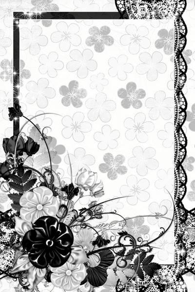 Photo frame - Black and white
