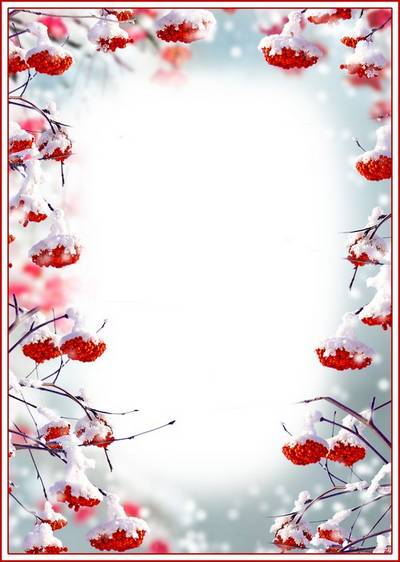 Winter PSD & PNG Frame for Photoshop - Bunches of Rowan